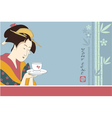 Japanese Geisha - Traditional Art Style vector image vector image