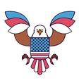 eagle with flag usa isolated icon design vector image