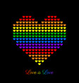 background for lgbt love concept with colorful vector image