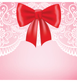background with lace border on pink background vector image