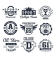 Black and White Sport Emblems Logos vector image
