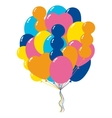 Bunch of Color Balloons vector image