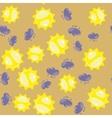 Cartoon sun and cloud seamless pattern 630 vector image