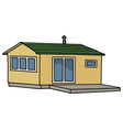 Funny small house vector image