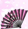 pink fan and face vector image