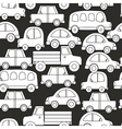 Seamless background of cars vector image