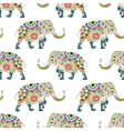 Seamless pattern of colorful elephants vector image