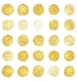 Set of golden grunge stamp Round shapes vector image