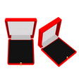 jewelry gift box red case vector image