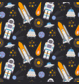 seamless pattern with space exploration vector image