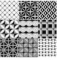 monochrome abstract seamless background vector image vector image