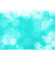 Christmas blue background with hanging stars vector image vector image
