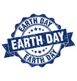 earth day stamp sign seal vector image