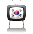 A TV with the flag of Korea vector image vector image