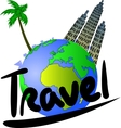 Travel and tourism vector image