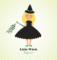 Cute Little Witch Background vector image vector image