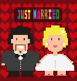 Just Married Invitation Greeting Card vector image