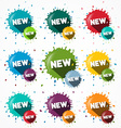 New Icons Set - Blots - Splashes Symbols vector image