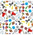 seamless pattern with sport icons vector image