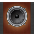 Loud Speaker on a wood background vector image vector image
