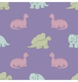 Funny dinosaurs Seamless background vector image