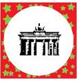 berlin brandenburg gate or brandenburger tor vector image