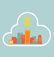 flat style modern city within the cloud vector image