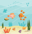 Life of small fishes vector image