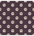 Seamless halloween pattern with skulls vector image