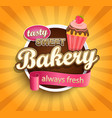 sweet bakery label vector image