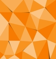 Orange polygon abstract triangle background vector image vector image