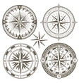 Old sailing marine navigation compass wind rose vector image