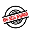 Anti-Social Behaviour rubber stamp vector image