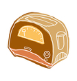 A toaster vector image vector image