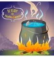 Halloween background melting pot eps10 vector image