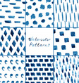 Set of watercolor simple patterns vector image