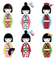 Japanese dolls vector image