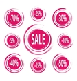 Abstract Paint Stains Sale and Discounts Badges vector image