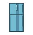 blue colored fridge vector image