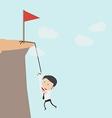 Business man climbs a mountain vector image
