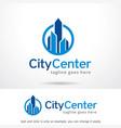 city center logo template design vector image