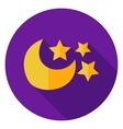 Moon with Stars Circle Icon vector image