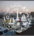 nautical sea composition vector image