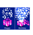Purple and pink Happy Birthday gifts vector image