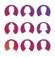 social netork and media avatars collection - white vector image