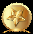 Star seal in gold vector image