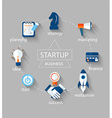Startup concept icons vector image