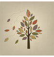 Stylized autumn tree vector image