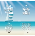 Summer Vacation labels vector image