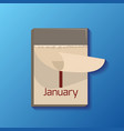 tear-off calendar with the date for your vector image